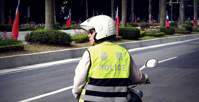 Scooter police in Taiwan