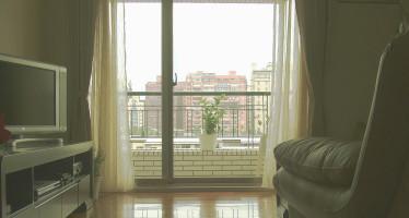 An apartment in a high-rise