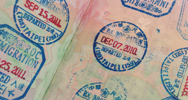 Taiwan entry and exit stamps